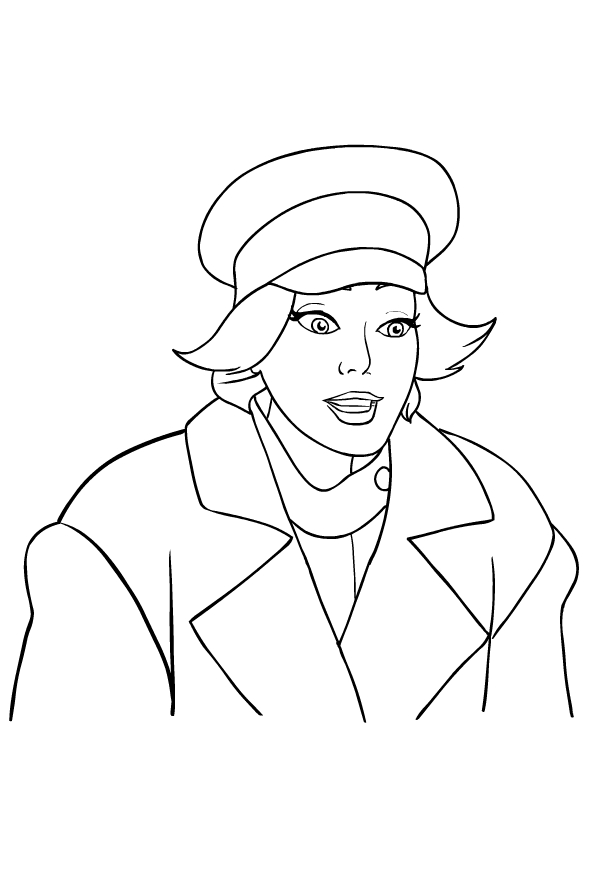 Drawing 1 from Anastasia coloring page to print and coloring