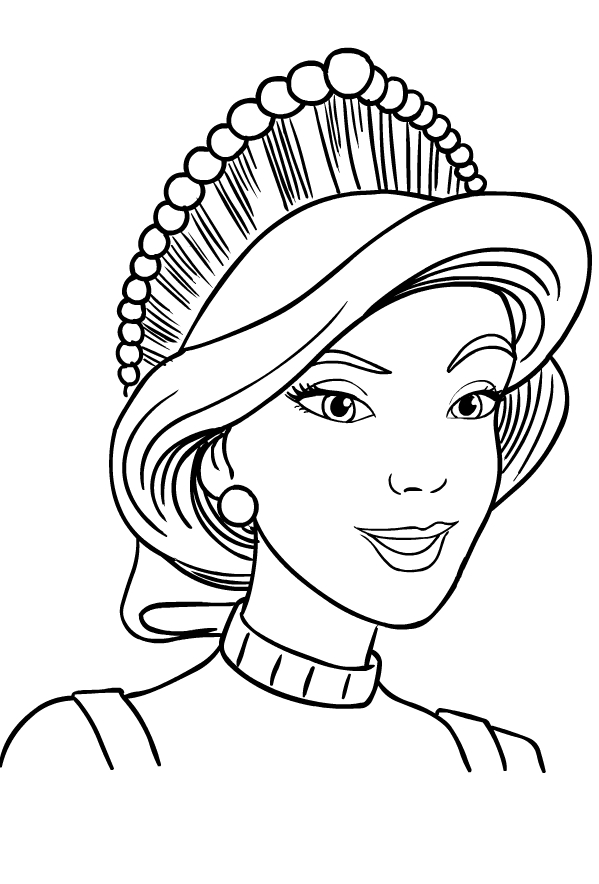 Drawing 2 from Anastasia coloring page to print and coloring