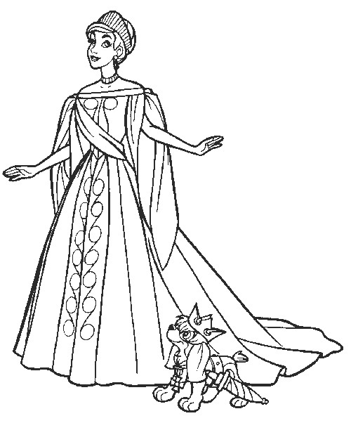 Drawing 3 from Anastasia coloring page to print and coloring