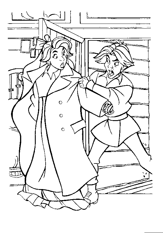 Drawing 9 from Anastasia coloring page to print and coloring