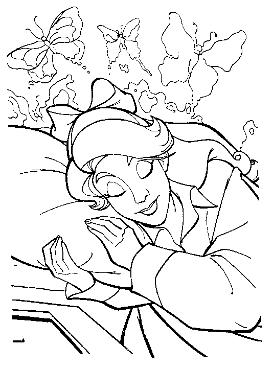 Drawing 10 from Anastasia coloring page to print and coloring