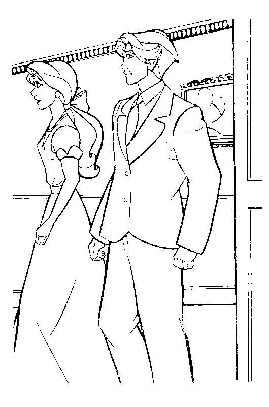 Dibujo 12 de Anastasia para imprimir y colorear