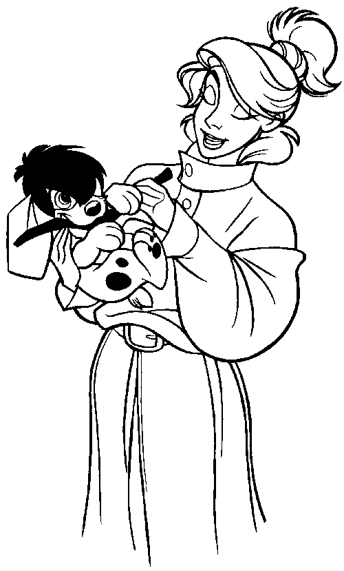 Drawing 14 from Anastasia coloring page to print and coloring