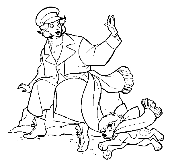 Drawing 15 from Anastasia coloring page to print and coloring