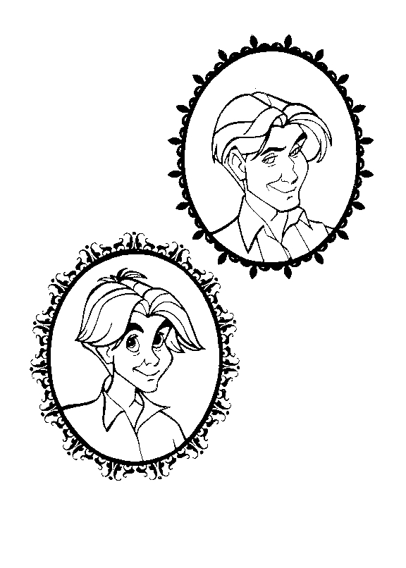 Drawing 16 from Anastasia coloring page to print and coloring