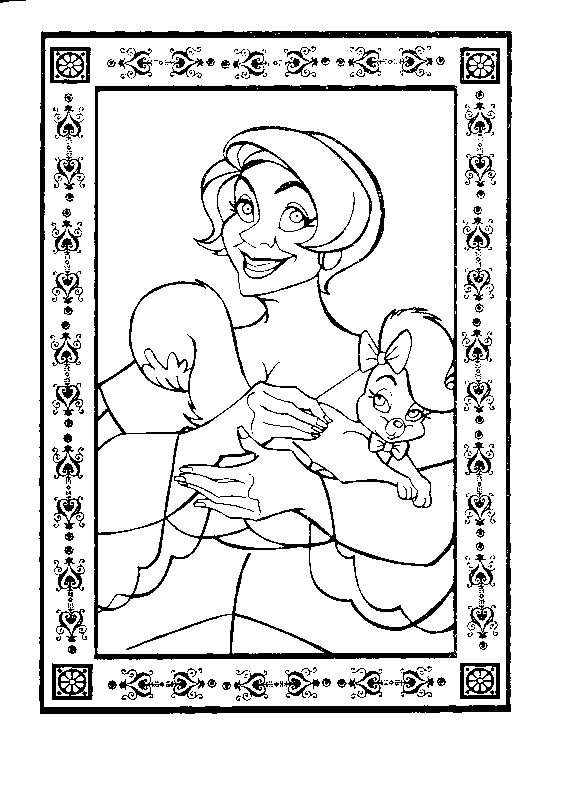 Drawing 17 from Anastasia coloring page to print and coloring
