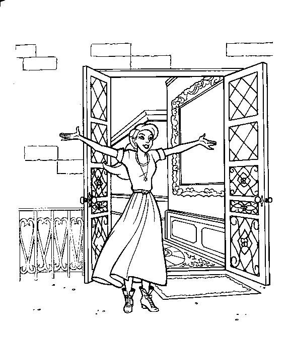 Dibujo 23 de Anastasia para imprimir y colorear