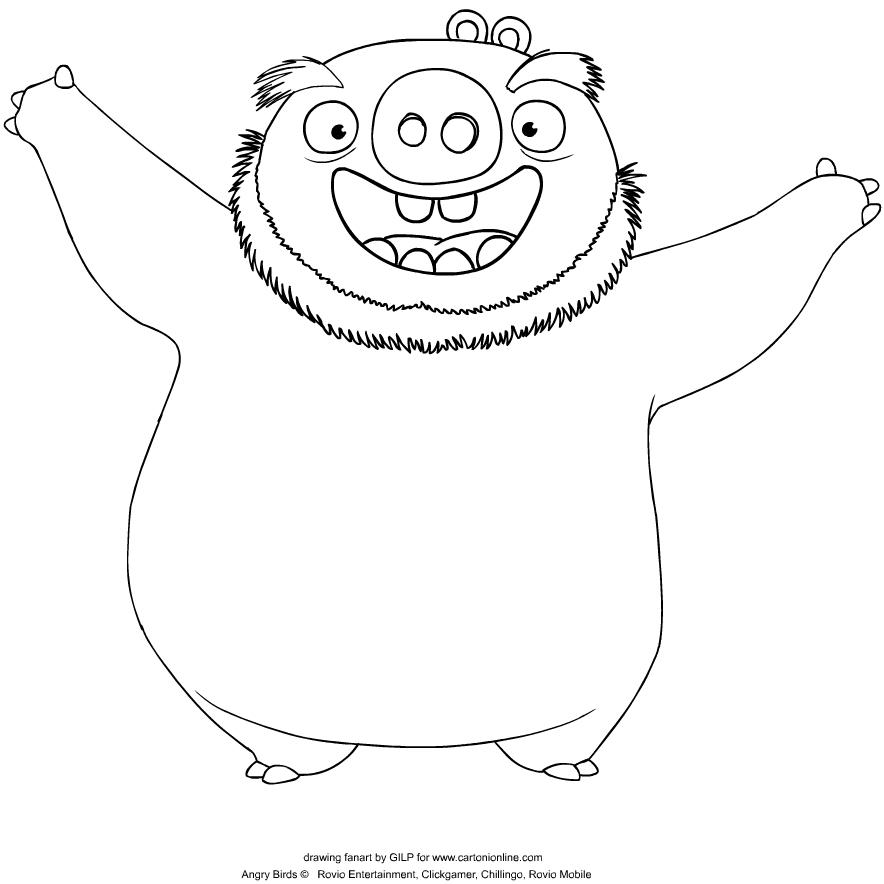Desenho De Leonard De Angry Birds Para Colorir
