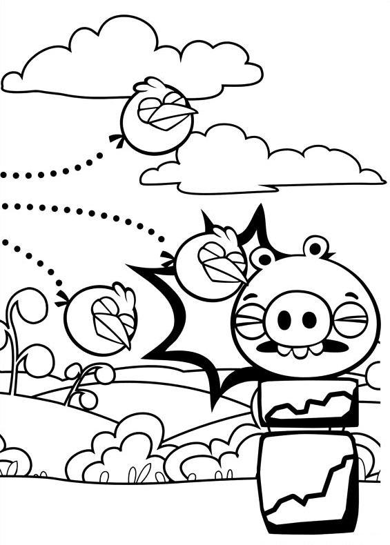 Disegno di Angry Birds da stampare e colorare