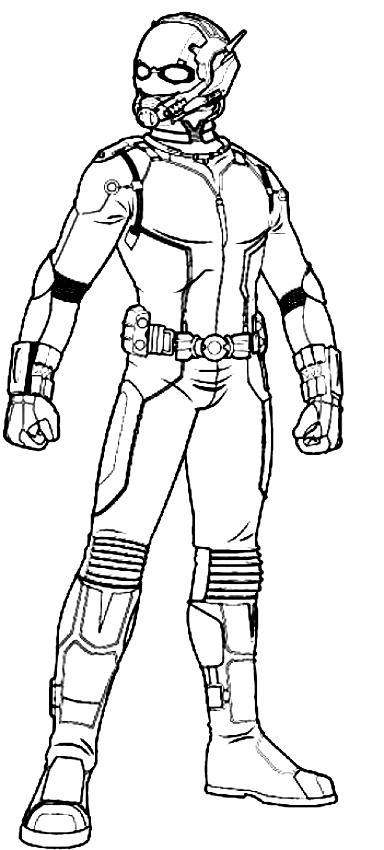 Dessin Ant-Man dans la version film à imprimer et colorier