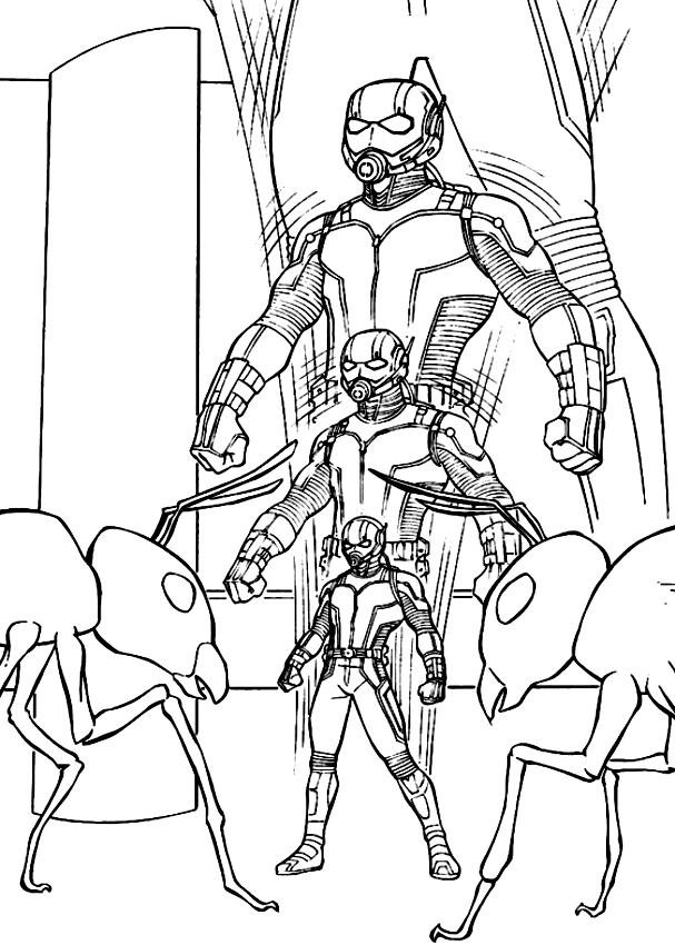 Dessin d'Ant-Man plus petit pour imprimer et colorier