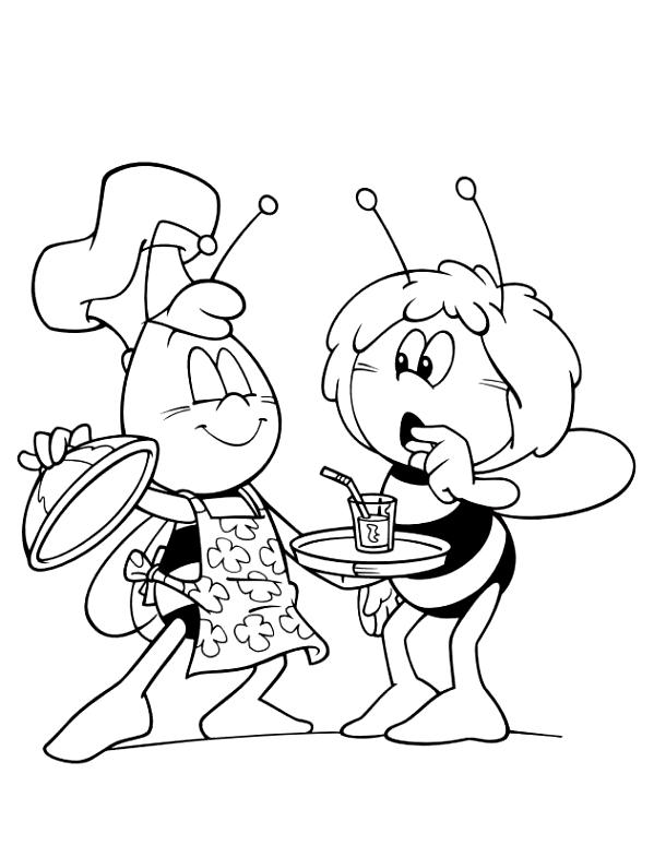 Coloriage 19 de Maya l'abeille à imprimer et colorier