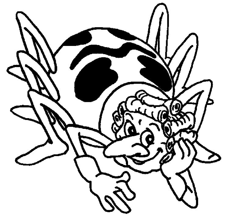 Disegno di tecla il ragno ape maia da colorare for Disegni da colorare e stampare ape maia