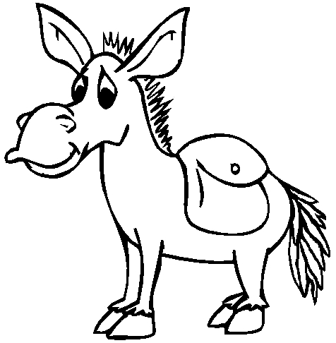Drawing 10 from Donkeys coloring page to print and coloring