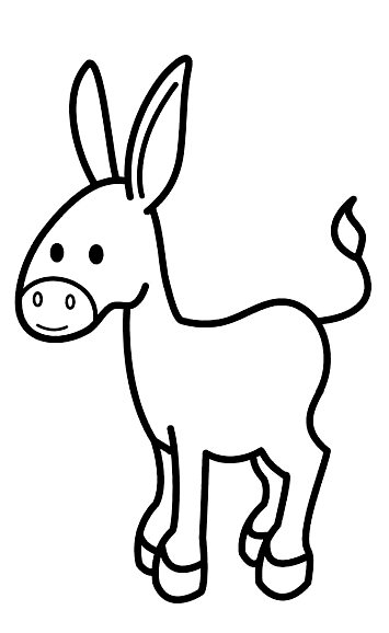 Drawing 16 from Donkeys coloring page to print and coloring