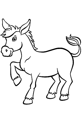 Drawing 17 from Donkeys coloring page to print and coloring