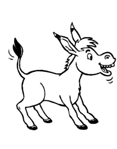 Drawing 18 from Donkeys coloring page to print and coloring