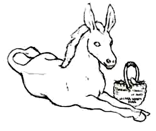 Drawing 19 from Donkeys coloring page to print and coloring