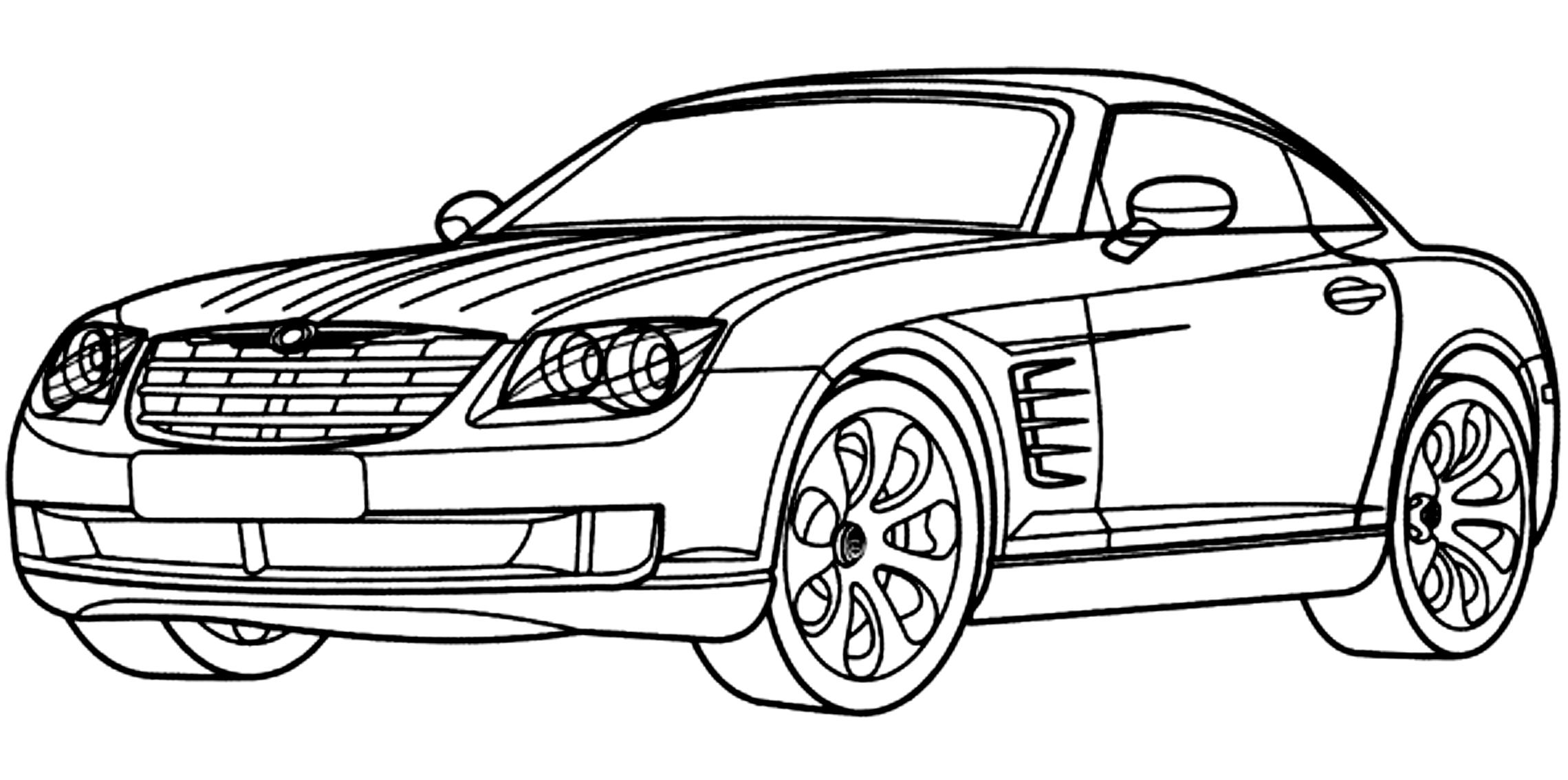 Disegno 7 Di Automobili Da Colorare