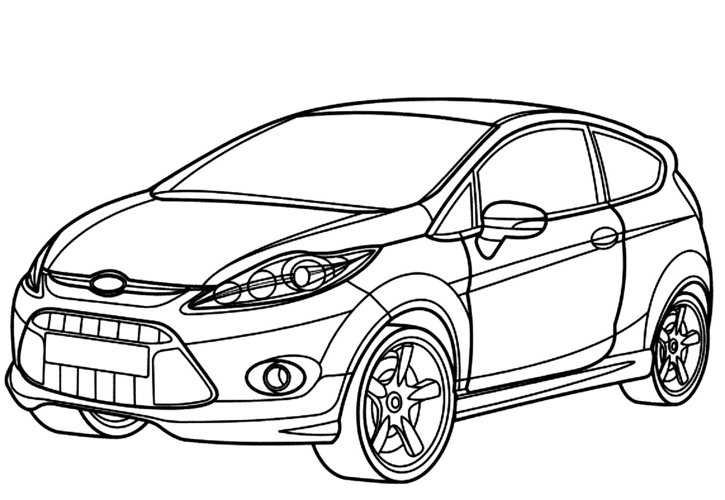 Disegno 17 Di Automobili Da Colorare