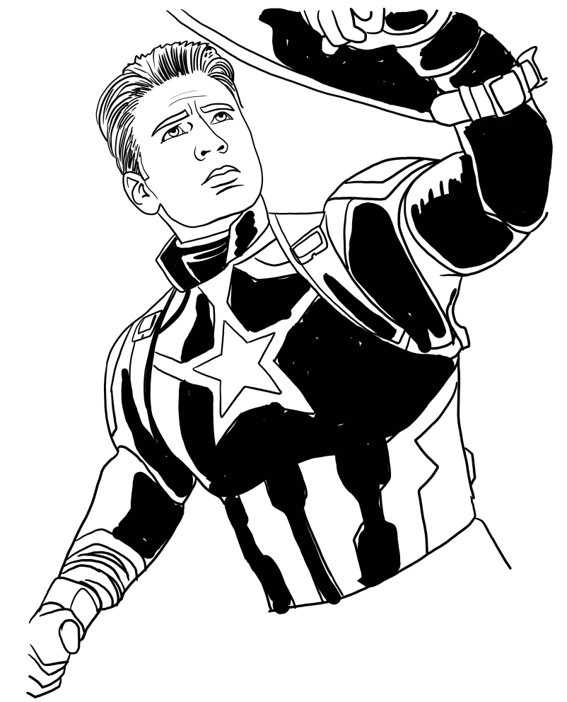 Disegno Da Colorare Avengers.Disegno Di Capitan America Di Avengers Endgame Da Colorare