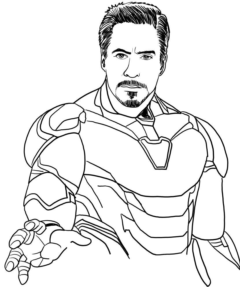 Disegno Di Iron Man In Avengers Endgame Da Colorare