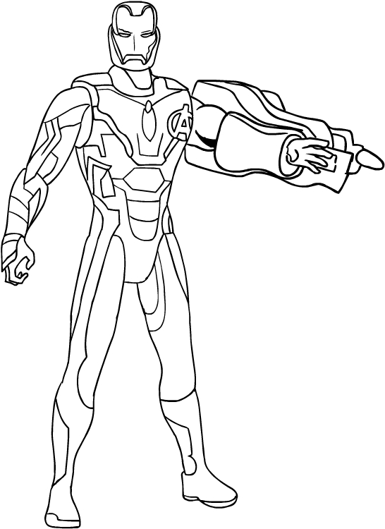 Dibujo De Iron Man De Avengers Endgame Para Colorear
