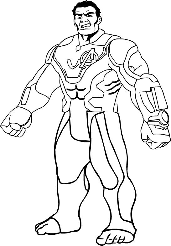 Desenho De Hulk De Avengers Endgame Para Colorir