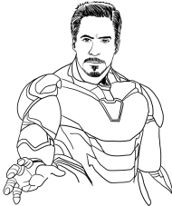 Drawing The Avengers Coloring Page