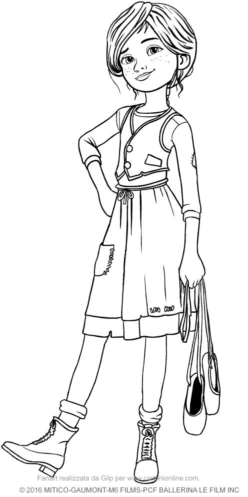 Favorito Disegno di Félicie Milliner (Ballerina il film) da colorare ZU55