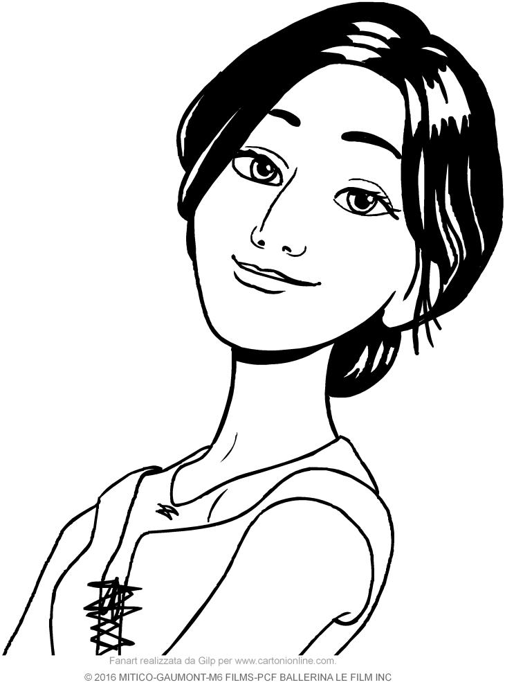 Disegno di odette in primo piano ballerina il film da for Disegno di piano domestico