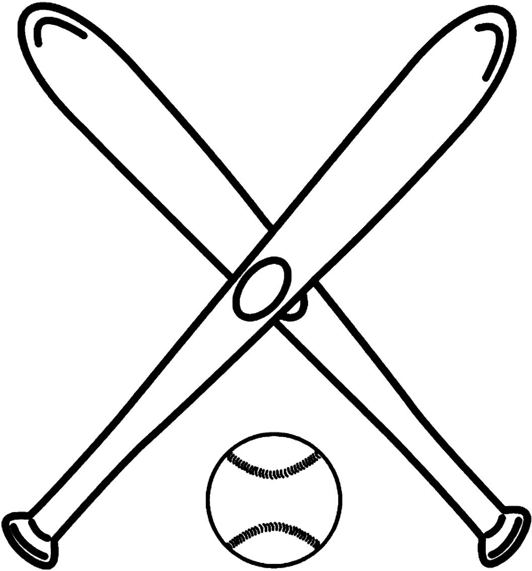 Desenho 9 de Baseball para imprimir e colorir
