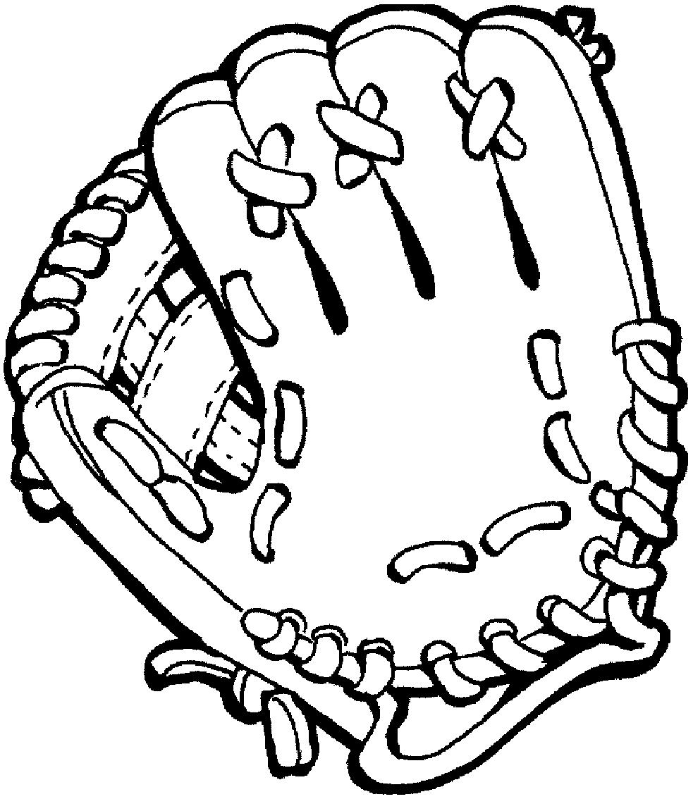 Desenho 11 de Baseball para imprimir e colorir