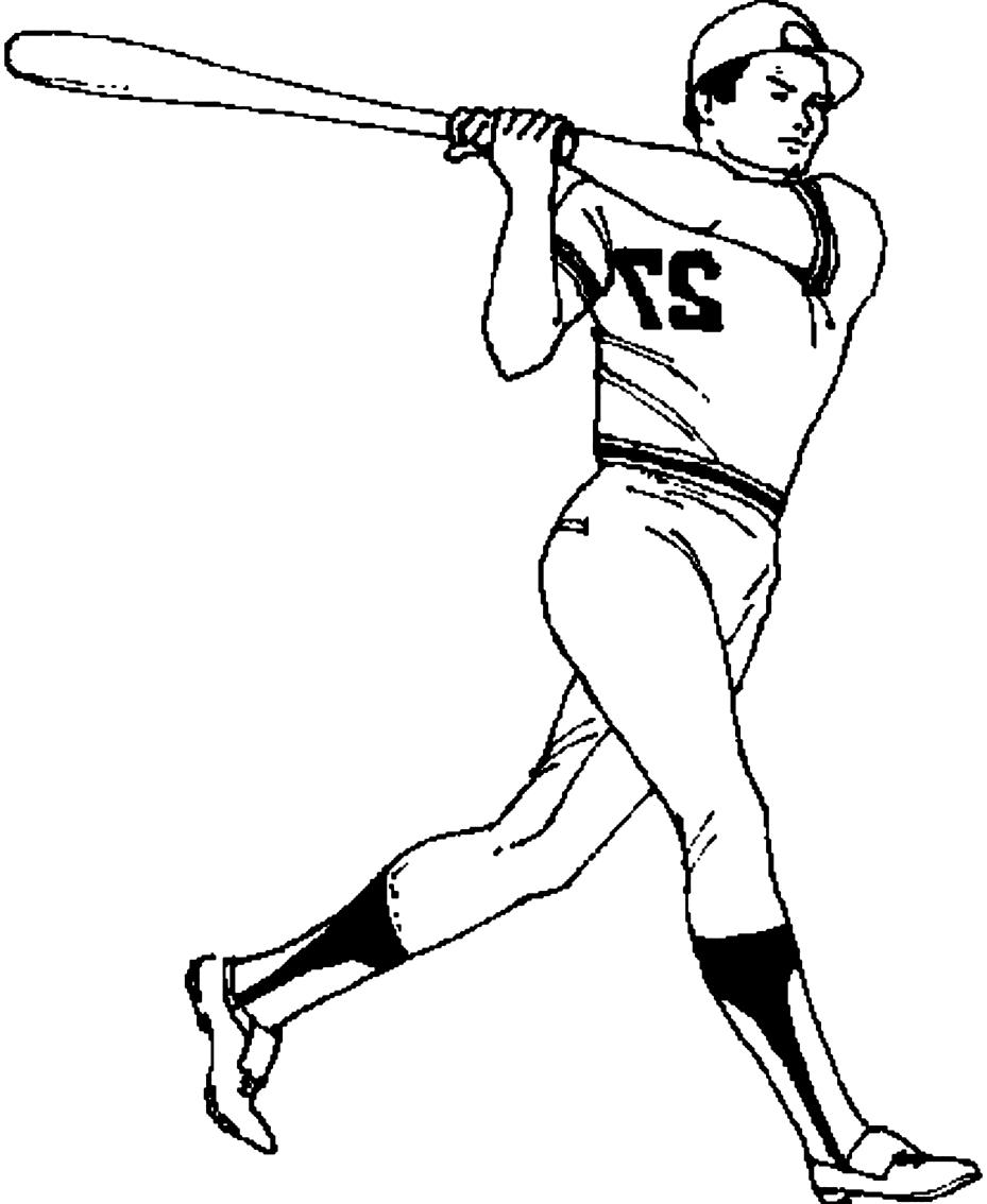 Desenho 16 de Baseball para imprimir e colorir