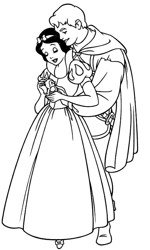 Disegno Di Biancaneve E Il Principe Da Colorare