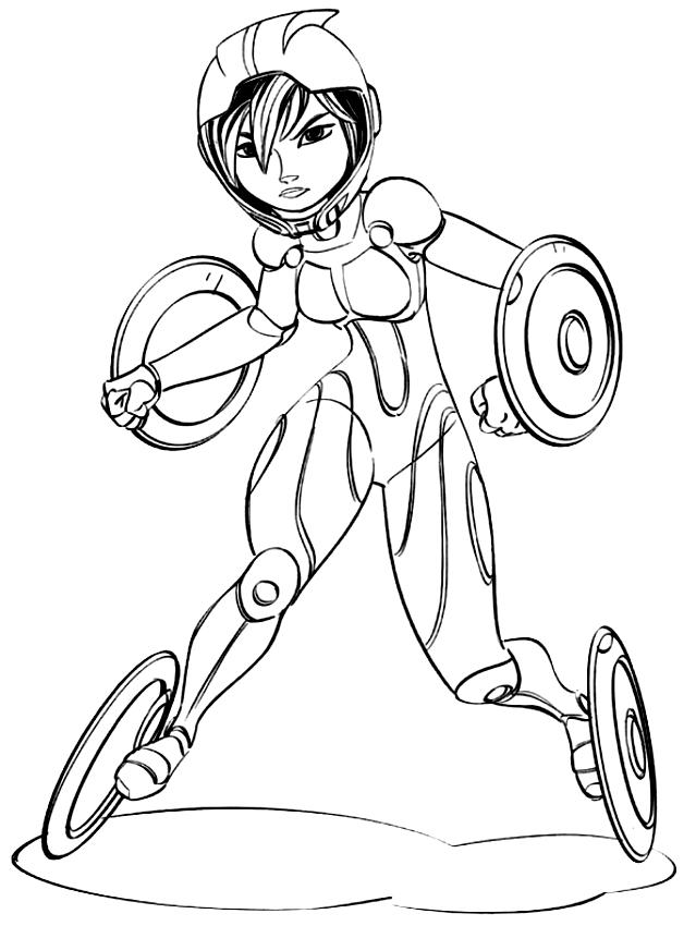 GoGo Tomago avec le costume (Big Hero 6) à imprimer et colorier