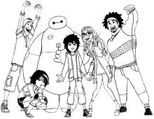 Disegni Di Big Hero 6 Da Colorare