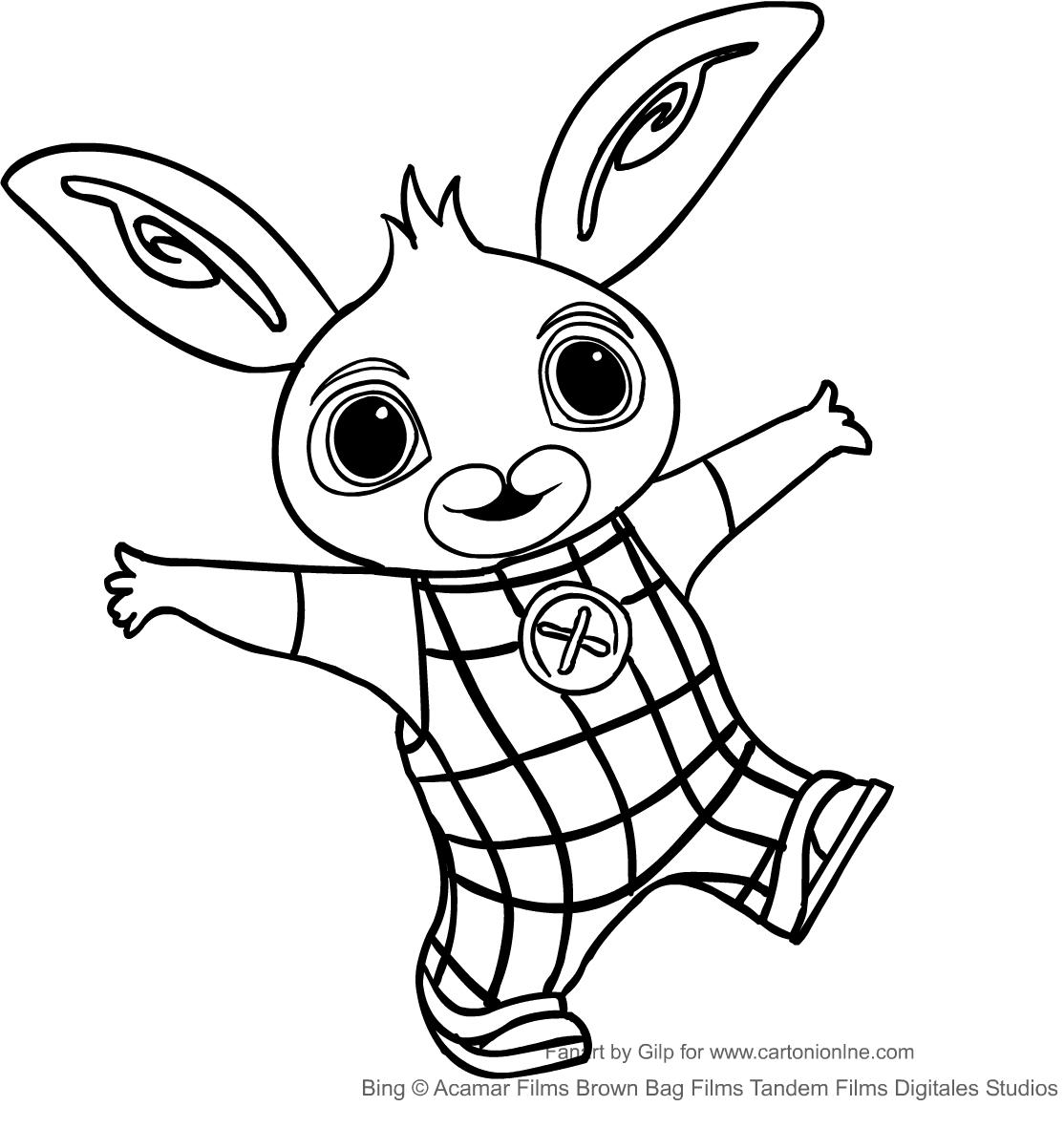 Disegno di bing il coniglio da colorare for Coniglio disegno per bambini