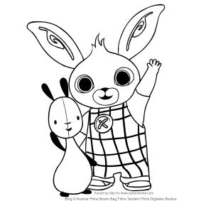 Disegni Di Bing Il Coniglio Da Colorare