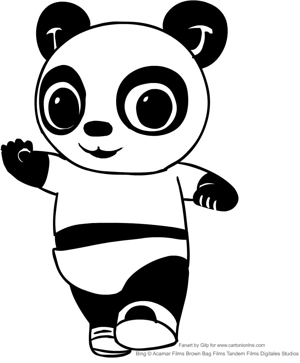 Disegno Di Pando L Amico Di Bing Da Colorare