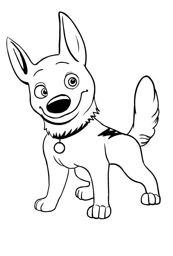 Desenho 1 De Bolt Disney Para Colorir