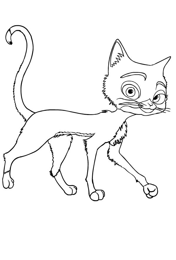 Coloriage 2 de Bolt (Disney) à imprimer et colorier