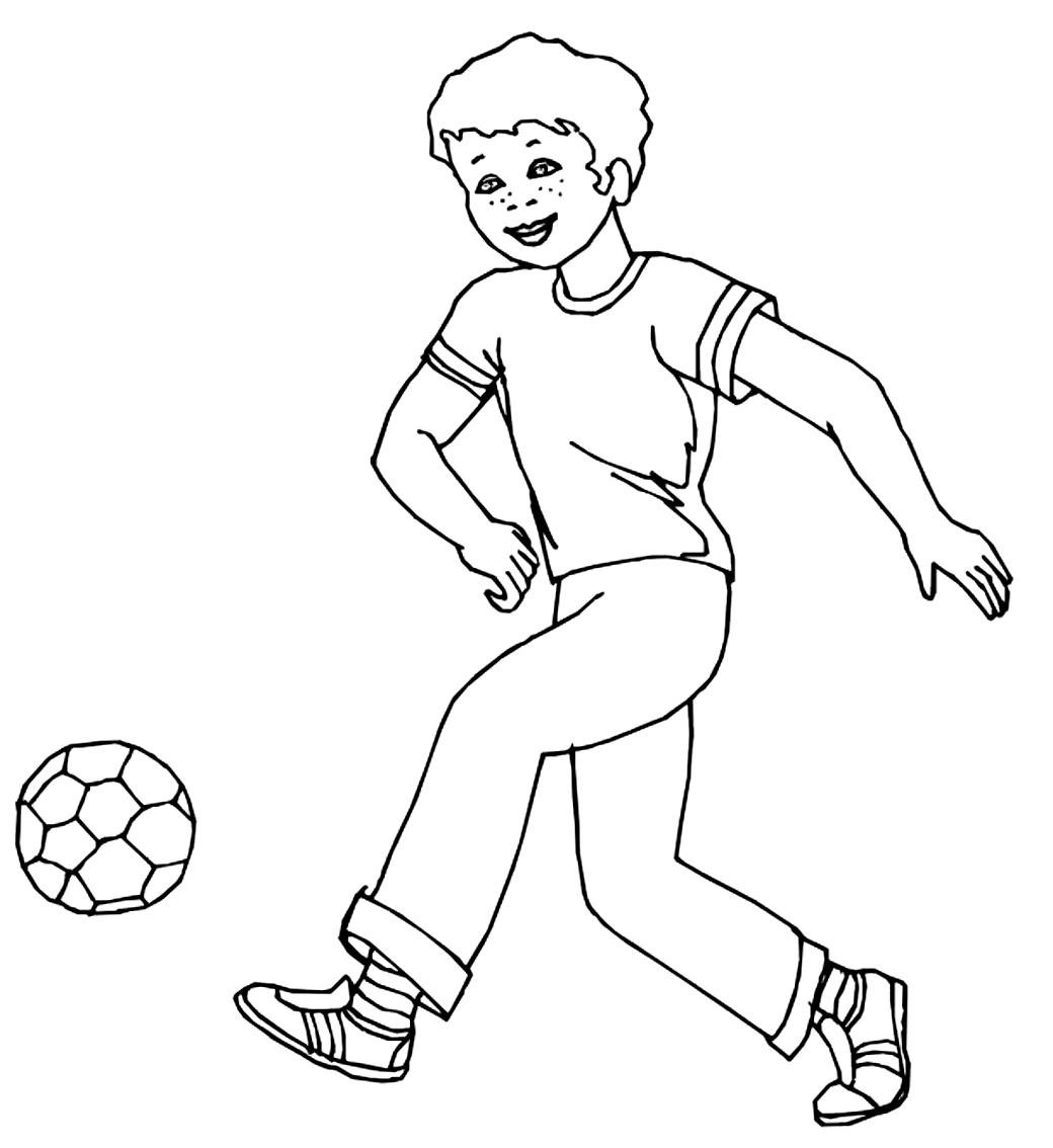 Coloriage 4 des football   imprimer en colorier