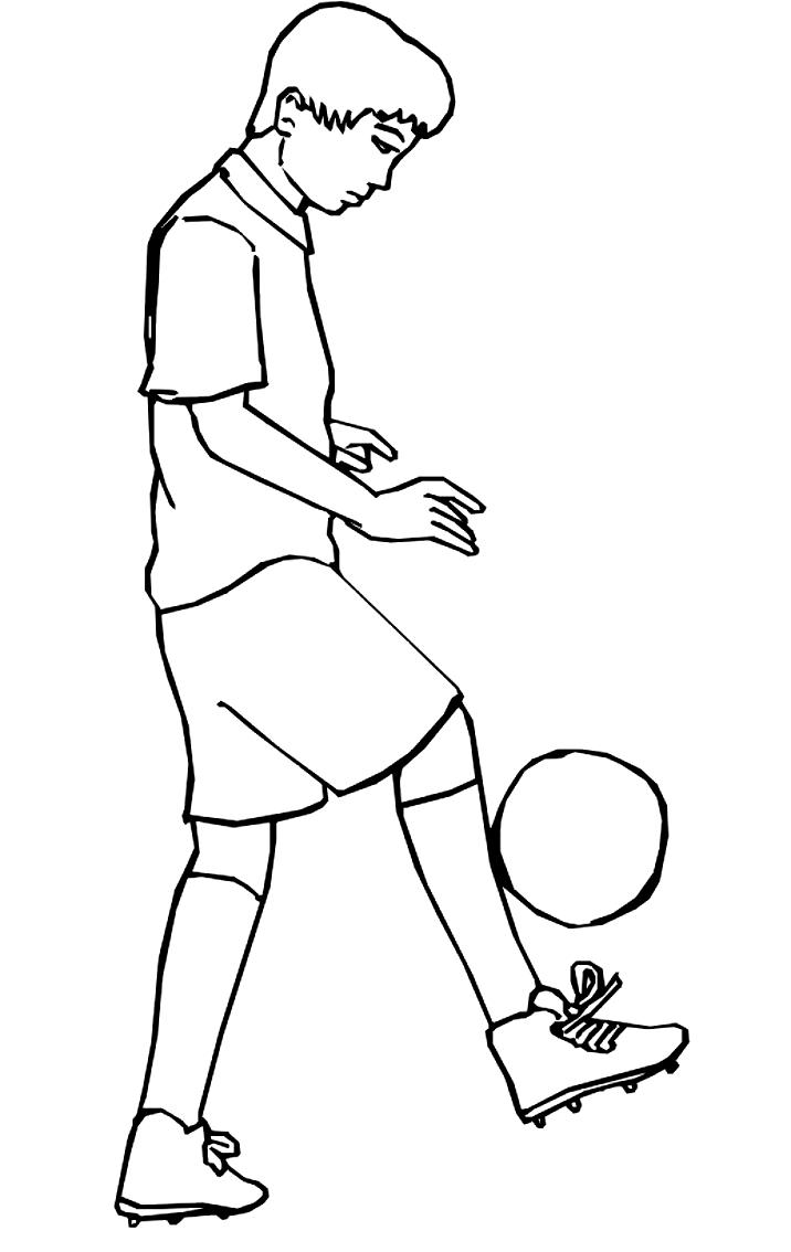 Coloriage 5 des football   imprimer en colorier