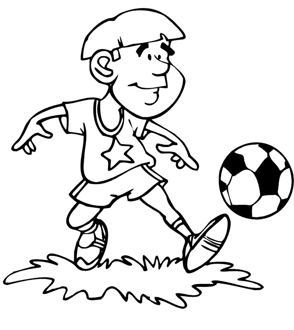 Disegno 6 Di Calcio Da Colorare