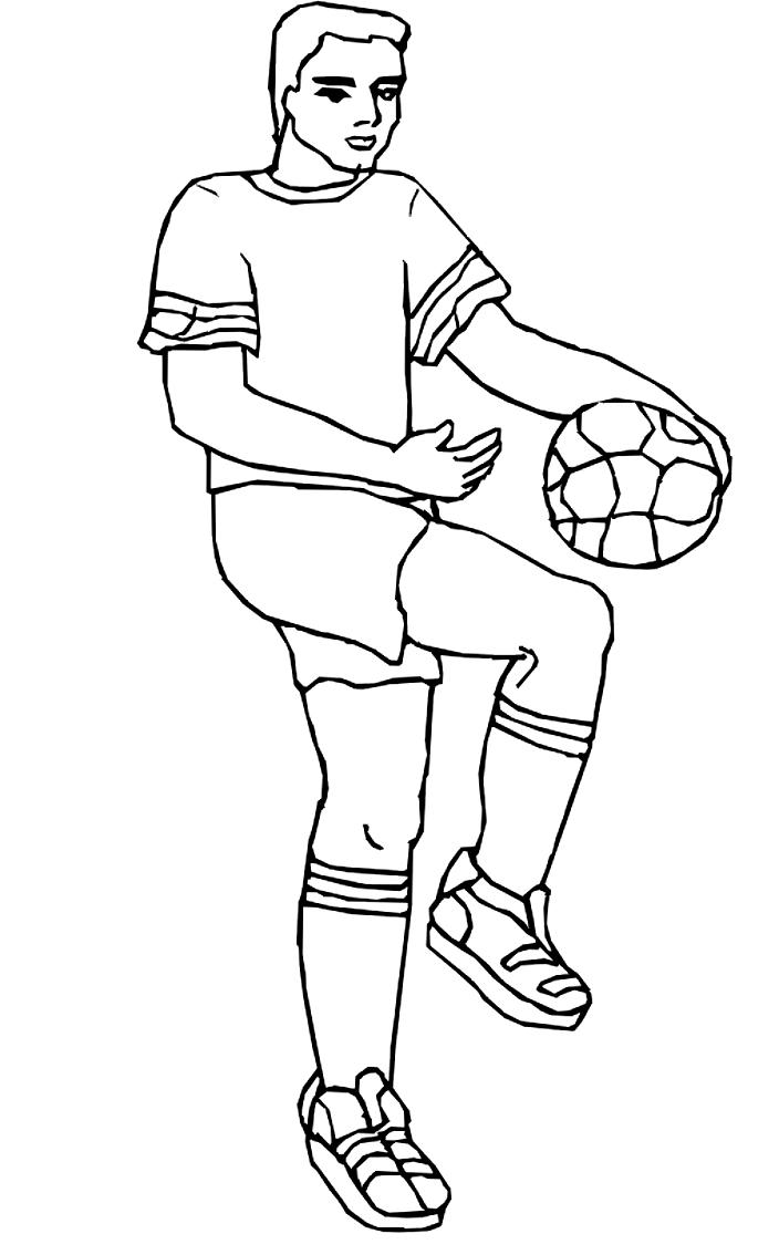 Coloriage 10 des football   imprimer en colorier