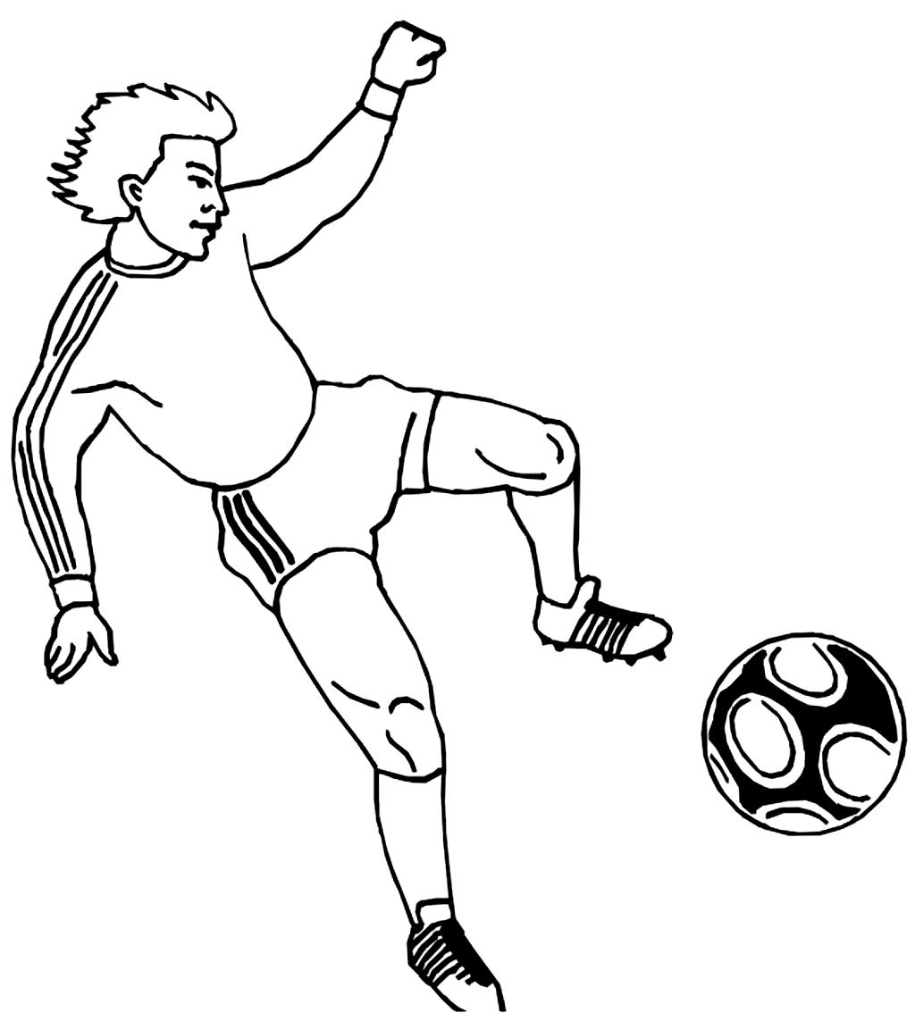 Coloriage 11 des football   imprimer en colorier