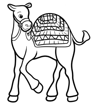 Disegno 19 di cammelli da stampare e colorare