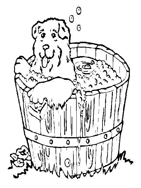 Disegno 2 di cani da stampare e colorare
