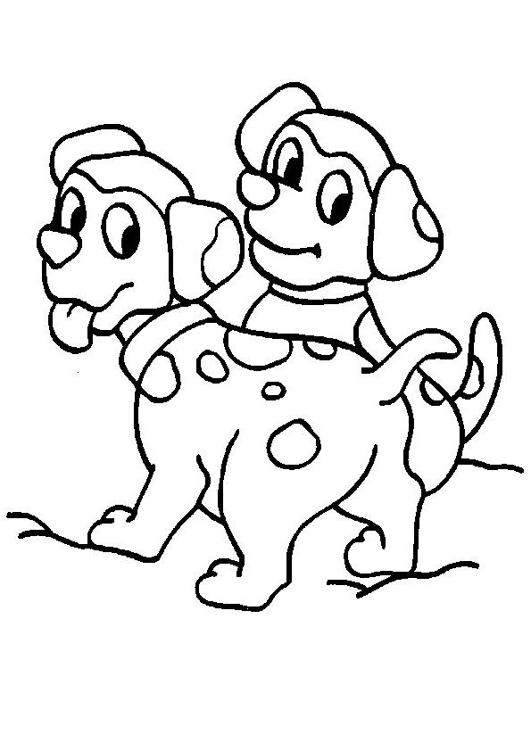 Disegno 17 di cani da stampare e colorare